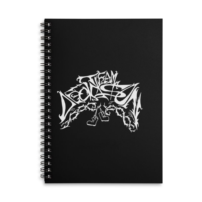 Nick & Jeremy's Band Shirt Accessories Lined Spiral Notebook by JordanaHeney Illustration