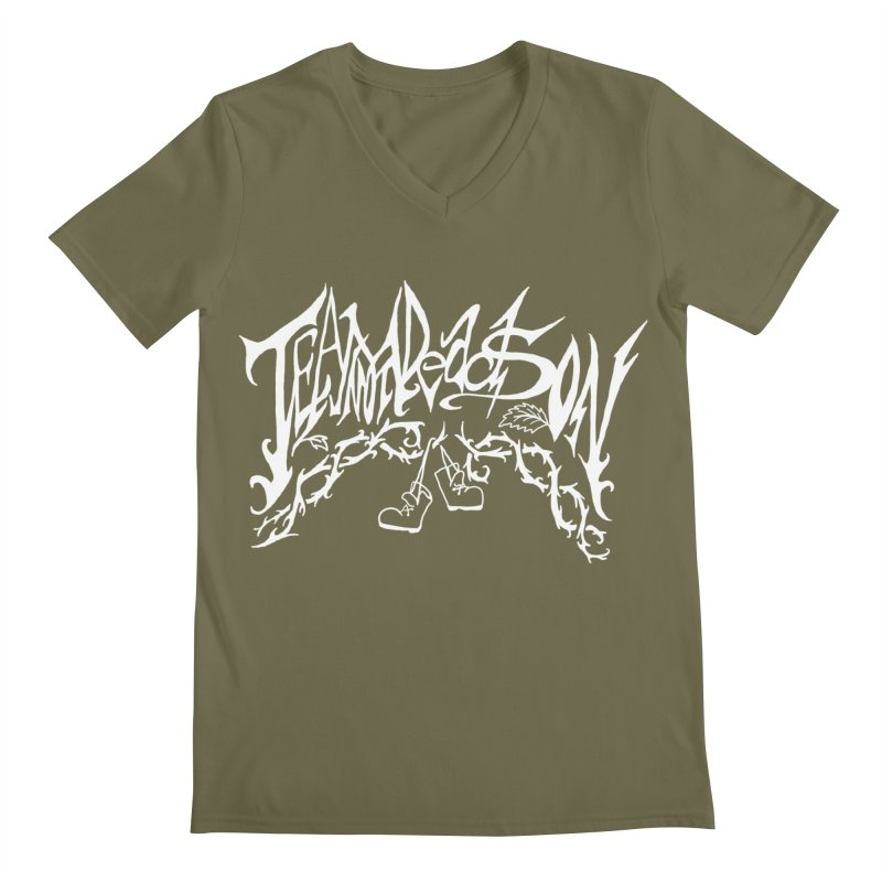 Jordana's Band Shirt Men's Regular V-Neck by JordanaHeney Illustration