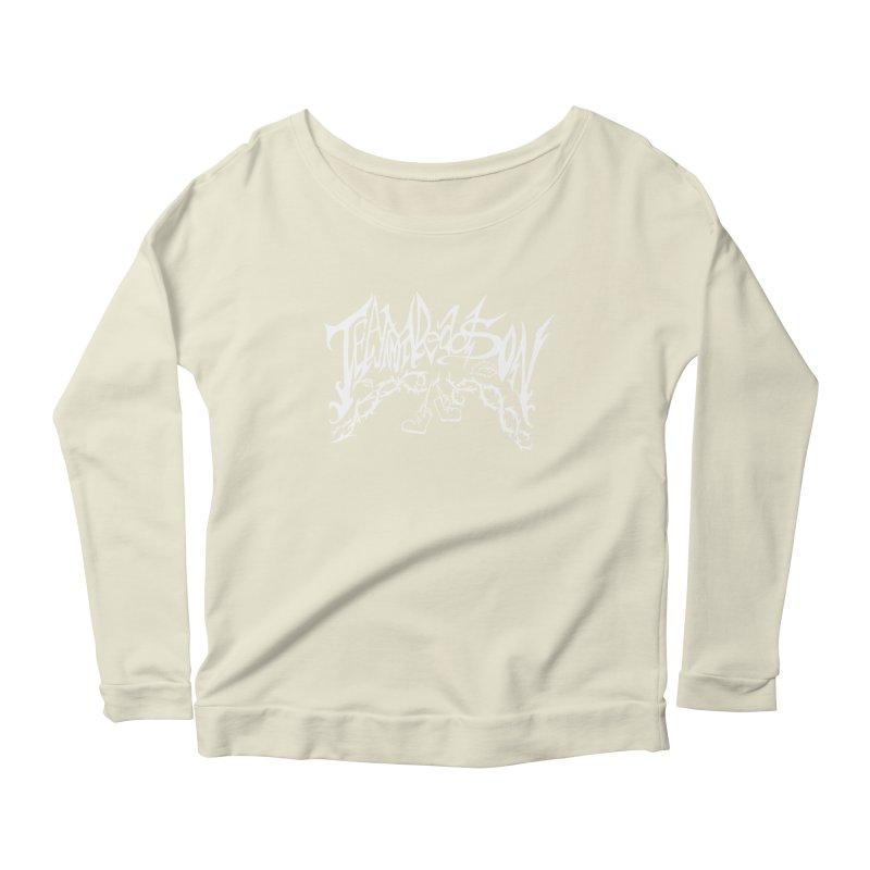 Jordana's Band Shirt Women's Scoop Neck Longsleeve T-Shirt by JordanaHeney Illustration