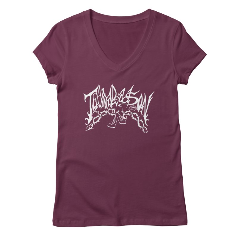 Jordana's Band Shirt Women's Regular V-Neck by JordanaHeney Illustration