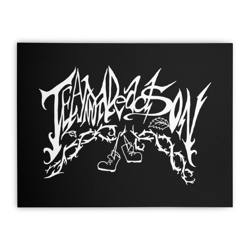 Jordana's Band Shirt Home Stretched Canvas by JordanaHeney Illustration
