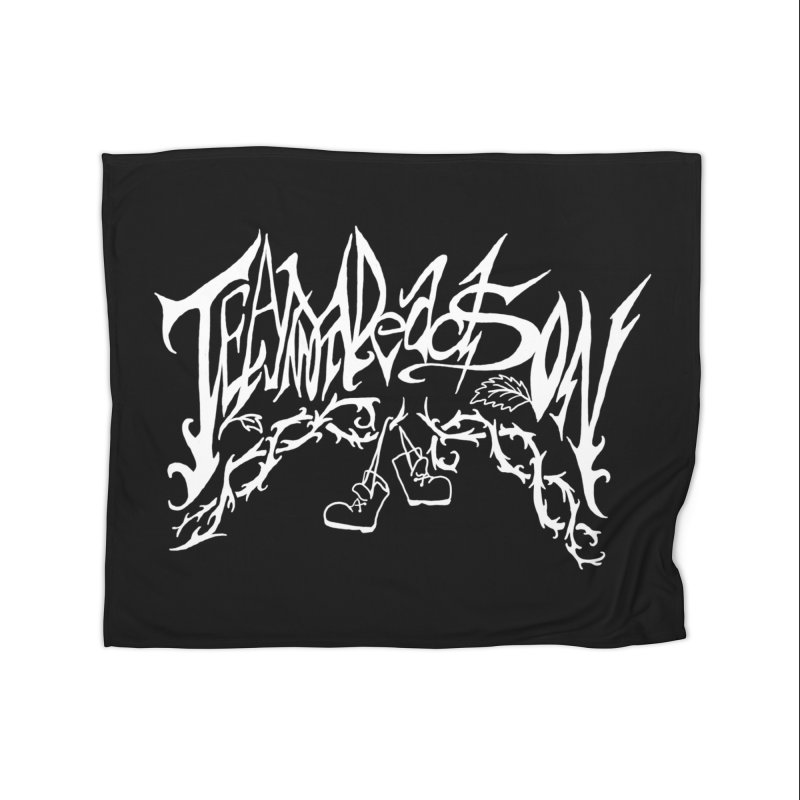 Jordana's Band Shirt Home Blanket by JordanaHeney Illustration
