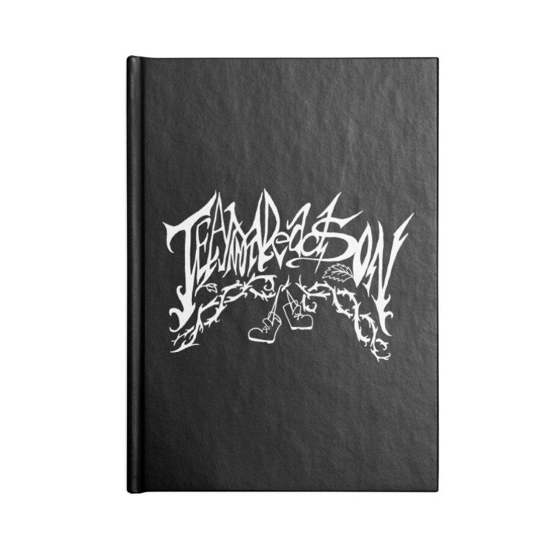 Jordana's Band Shirt Accessories Lined Journal Notebook by JordanaHeney Illustration