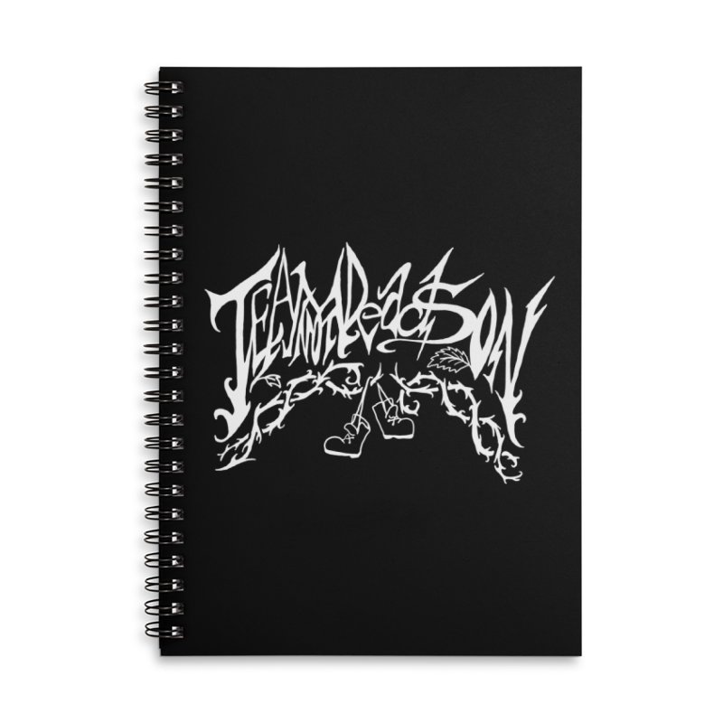 Jordana's Band Shirt Accessories Lined Spiral Notebook by JordanaHeney Illustration