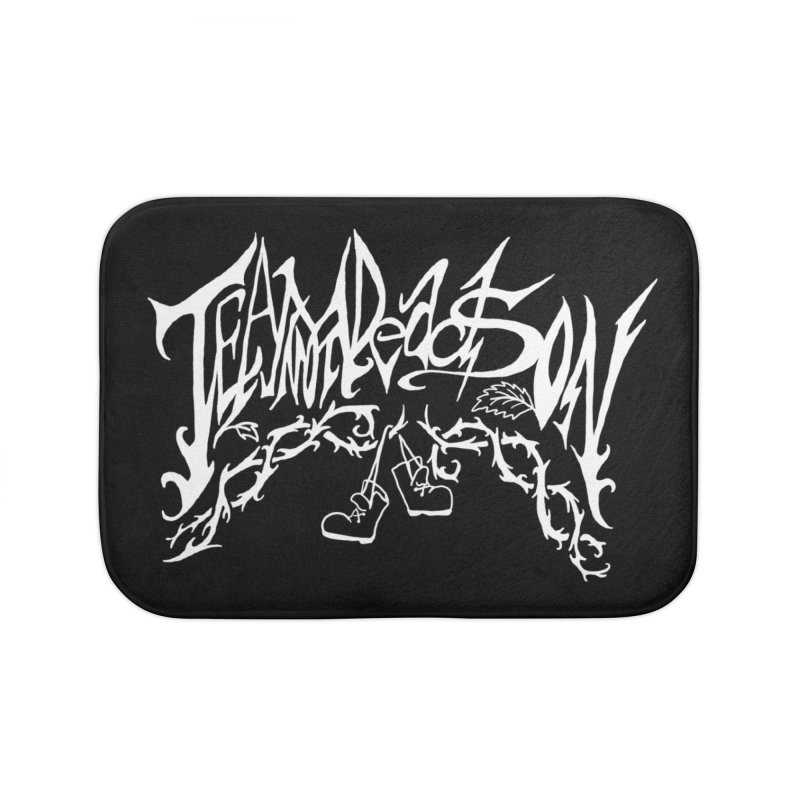 Jordana's Band Shirt Home Bath Mat by JordanaHeney Illustration