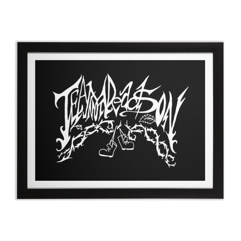 Jordana's Band Shirt Home Framed Fine Art Print by JordanaHeney Illustration