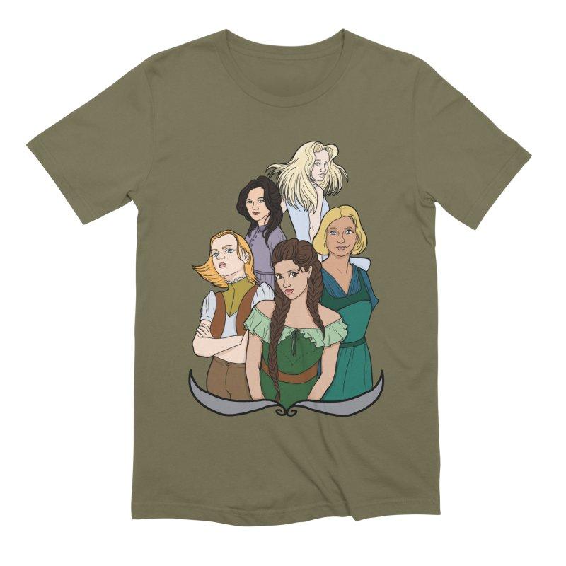 Women of the Wind Men's Extra Soft T-Shirt by JordanaHeney Illustration