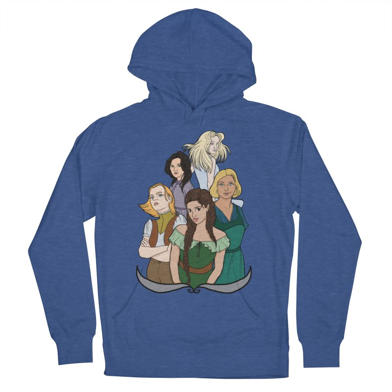 Women of the Wind Women's French Terry Pullover Hoody by JordanaHeney Illustration