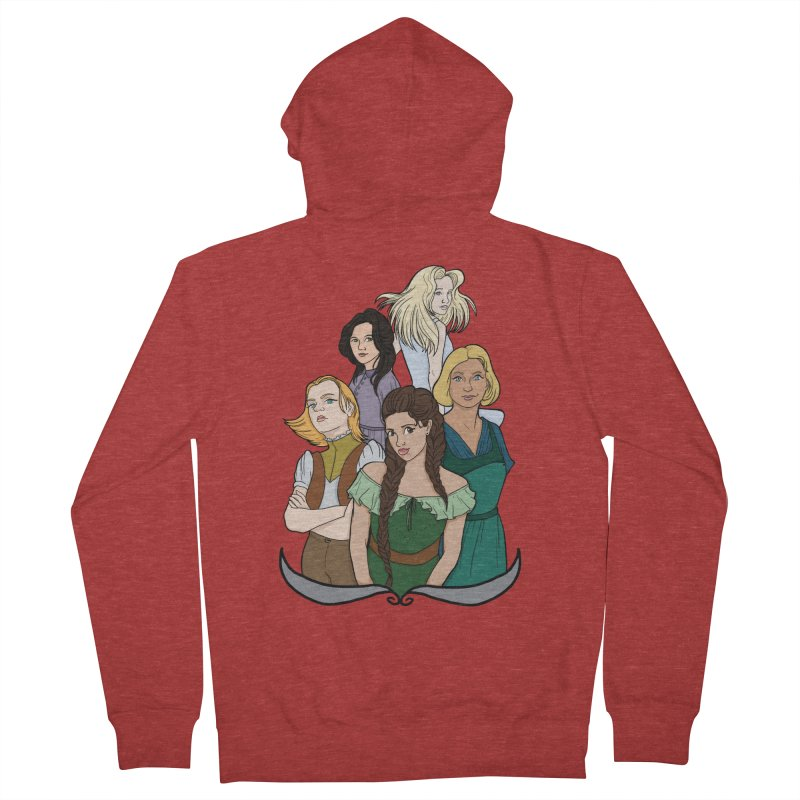 Women of the Wind Women's French Terry Zip-Up Hoody by JordanaHeney Illustration