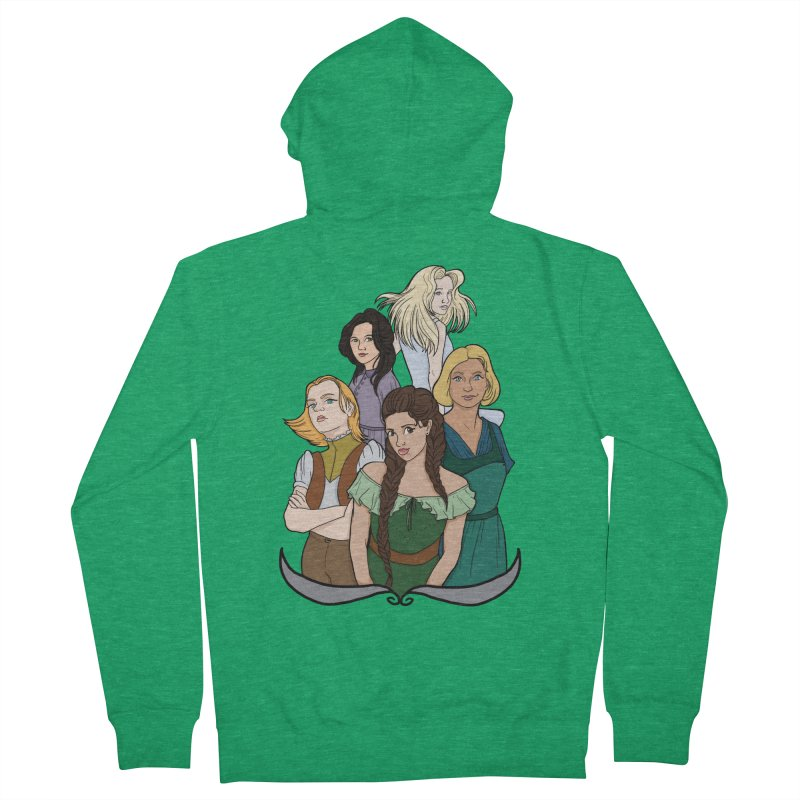 Women of the Wind Men's Zip-Up Hoody by JordanaHeney Illustration