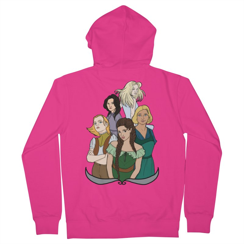 Women of the Wind Men's French Terry Zip-Up Hoody by JordanaHeney Illustration