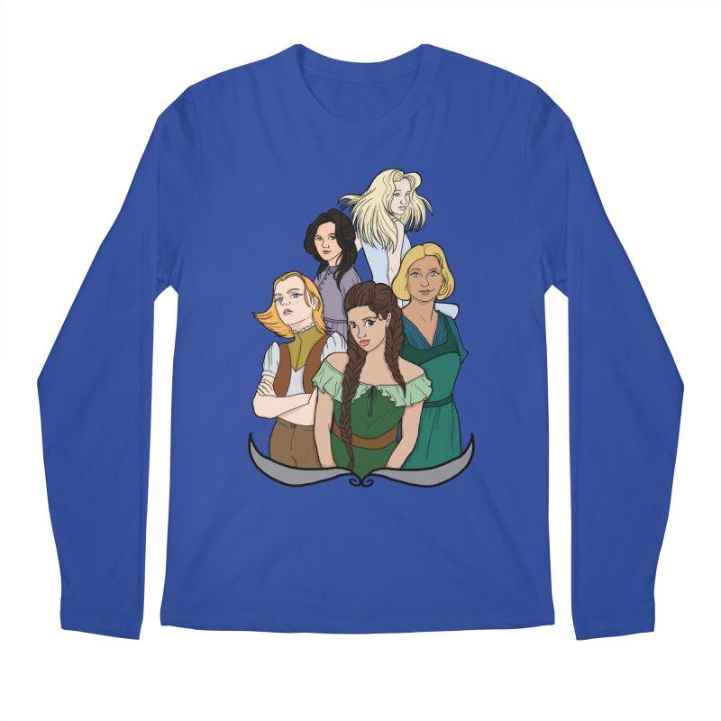 Women of the Wind Men's Regular Longsleeve T-Shirt by JordanaHeney Illustration