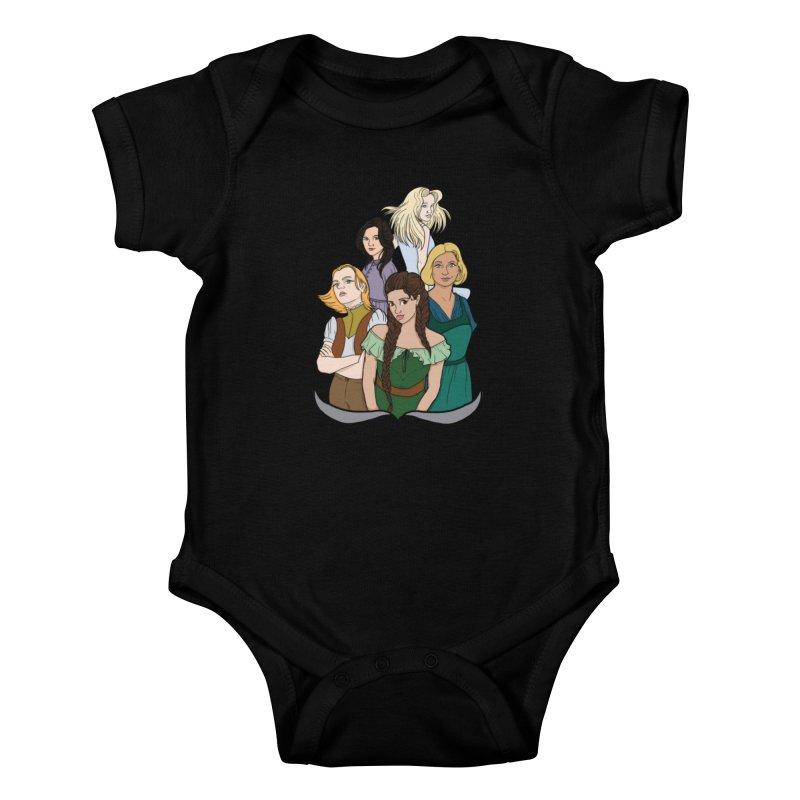 Women of the Wind Kids Baby Bodysuit by JordanaHeney Illustration