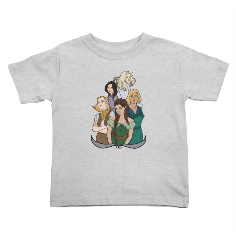 Women of the Wind Kids Toddler T-Shirt by JordanaHeney Illustration