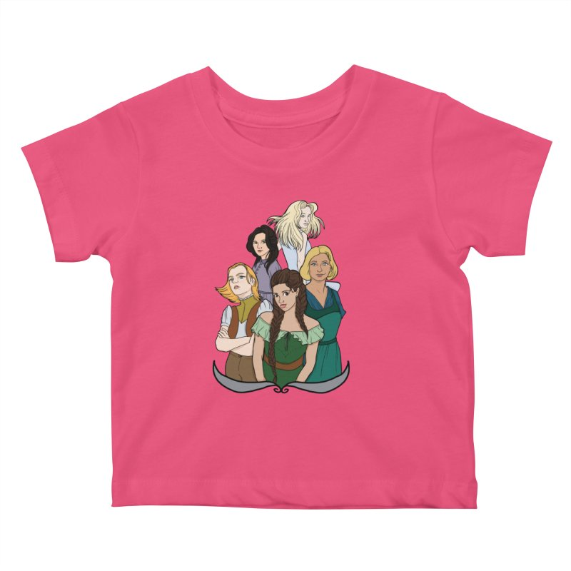 Women of the Wind Kids Baby T-Shirt by JordanaHeney Illustration