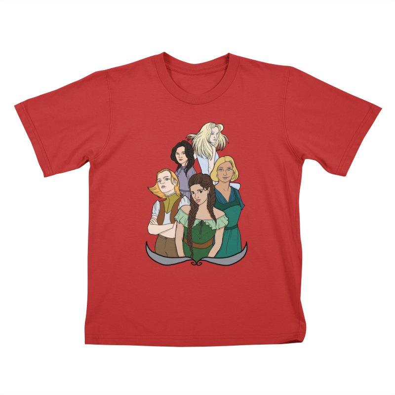 Women of the Wind Kids T-Shirt by JordanaHeney Illustration