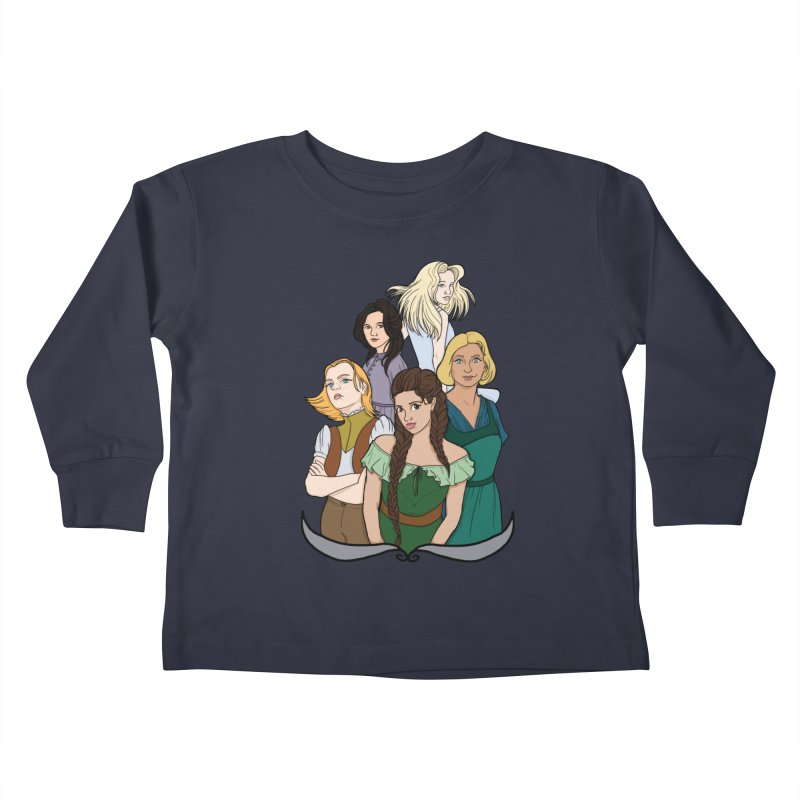Women of the Wind Kids Toddler Longsleeve T-Shirt by JordanaHeney Illustration