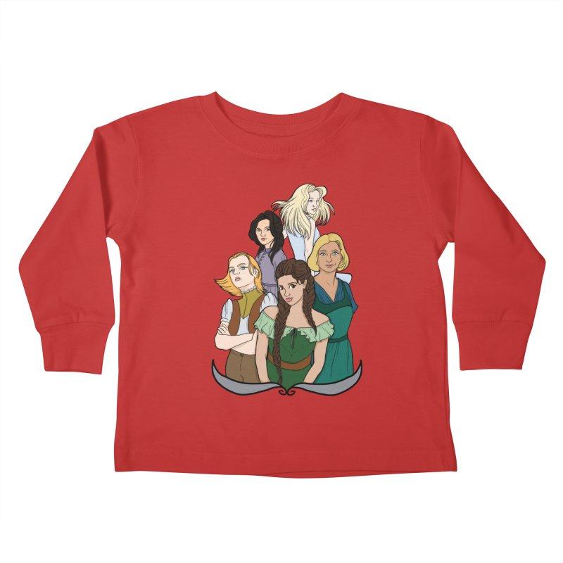 Women of the Wind Kids Toddler Longsleeve T-Shirt by JordanaHeney Illustration
