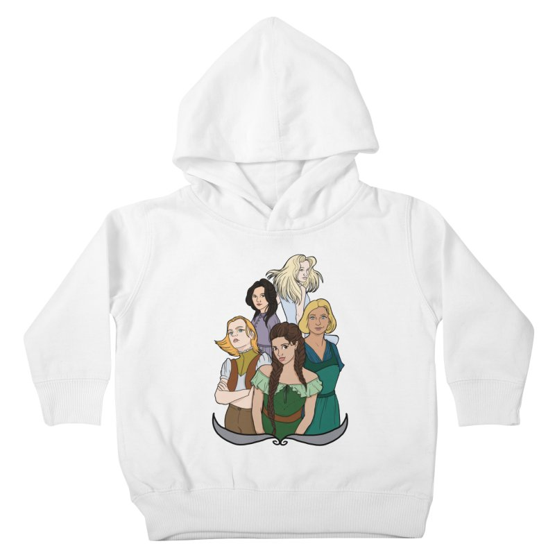 Women of the Wind Kids Toddler Pullover Hoody by JordanaHeney Illustration