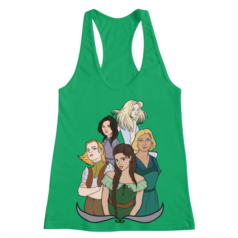 Women of the Wind Women's Racerback Tank by JordanaHeney Illustration