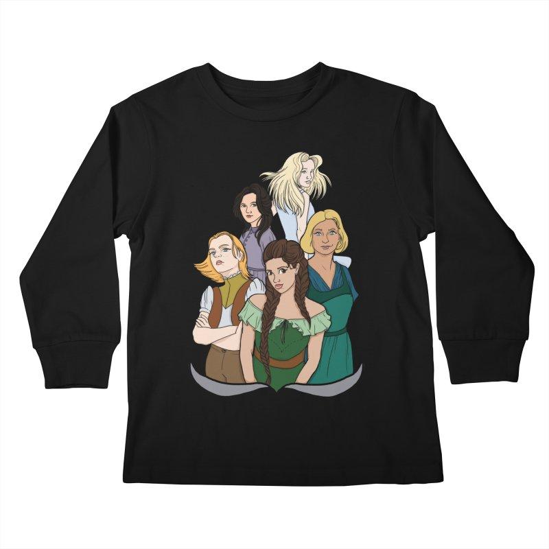 Women of the Wind Kids Longsleeve T-Shirt by JordanaHeney Illustration