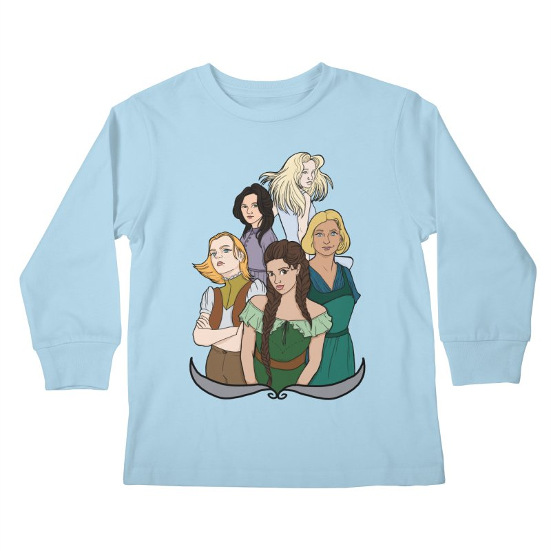 Women of the Wind Kids Longsleeve T-Shirt by JordanaHeney Illustration