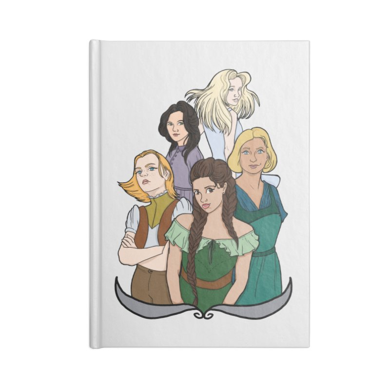 Women of the Wind Accessories Lined Journal Notebook by JordanaHeney Illustration