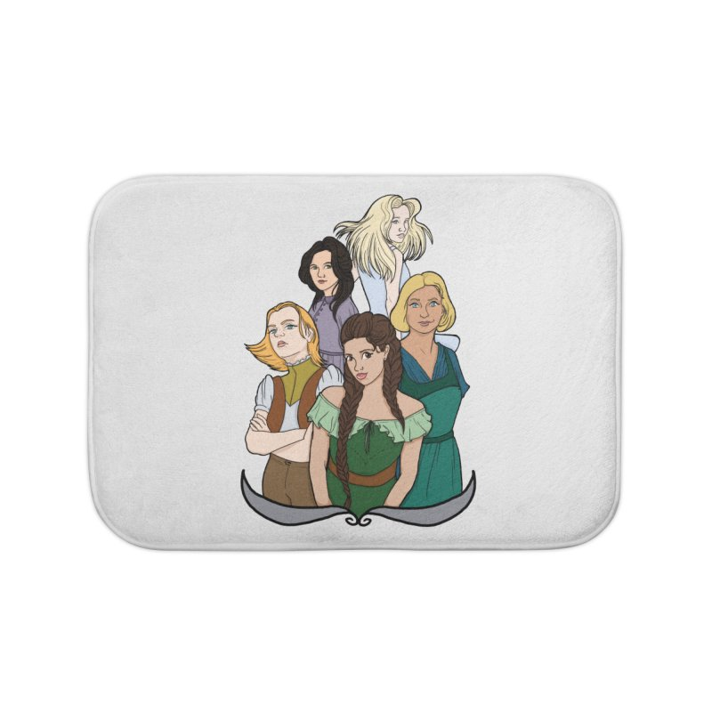 Women of the Wind Home Bath Mat by JordanaHeney Illustration