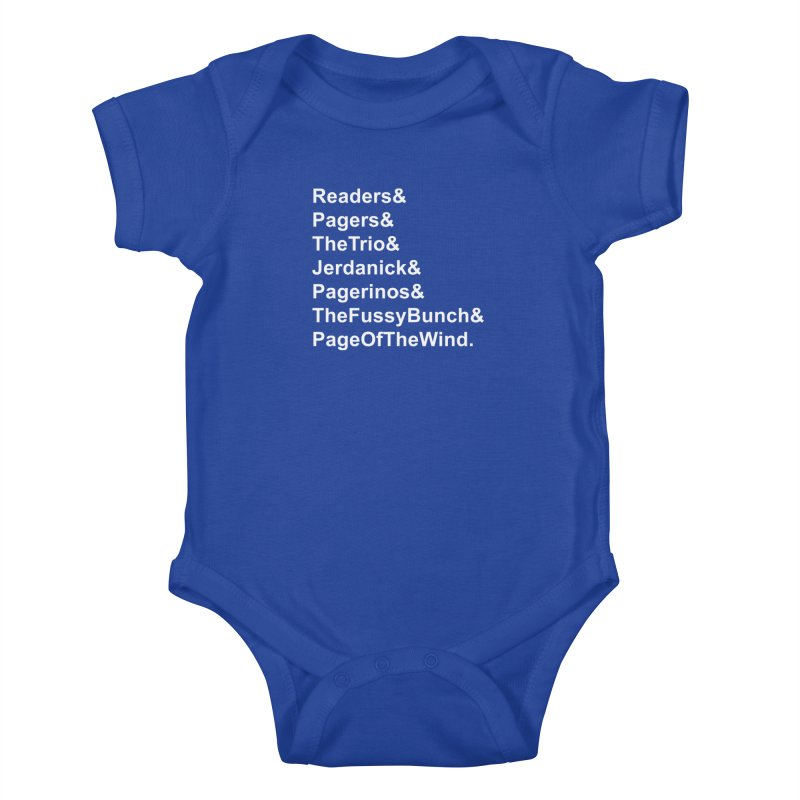 Pagerinos Kids Baby Bodysuit by JordanaHeney Illustration