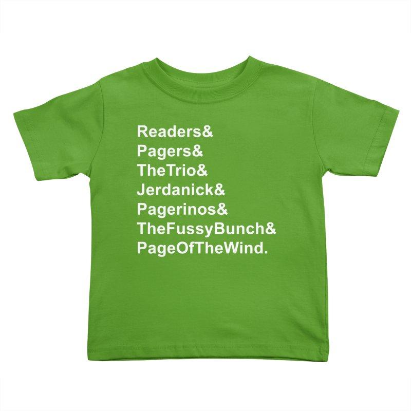 Pagerinos Kids Toddler T-Shirt by JordanaHeney Illustration