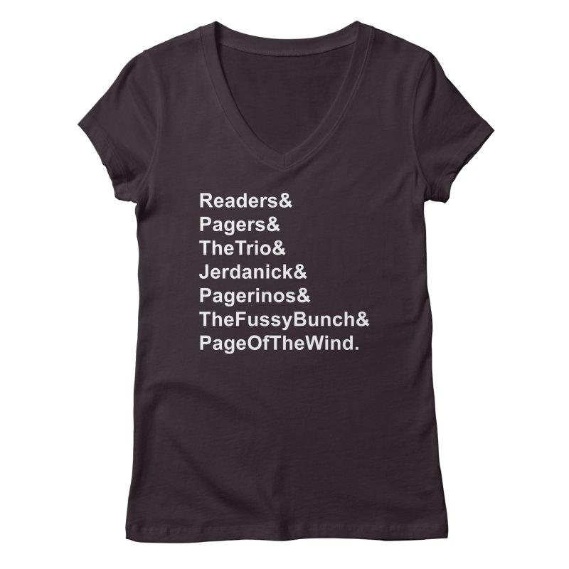 Pagerinos Women's Regular V-Neck by JordanaHeney Illustration