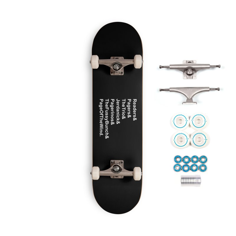 Pagerinos Accessories Complete - Basic Skateboard by JordanaHeney Illustration