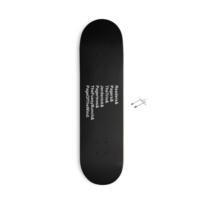 Pagerinos Accessories With Hanging Hardware Skateboard by JordanaHeney Illustration