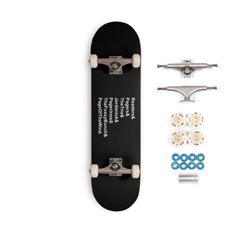 Pagerinos Accessories Complete - Premium Skateboard by JordanaHeney Illustration