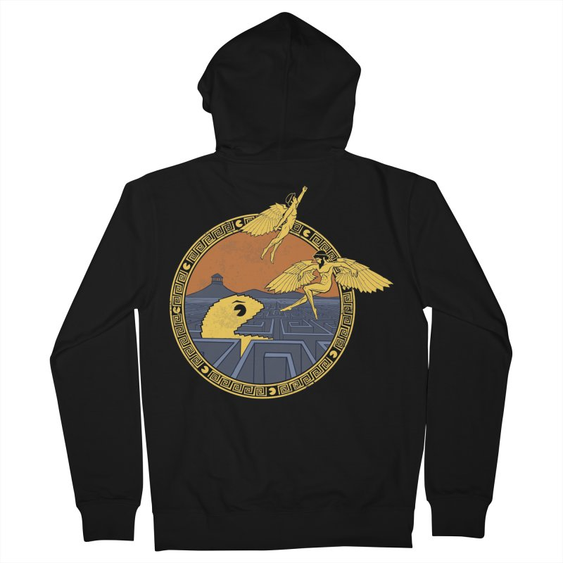 The Labyrinth Men's Zip-Up Hoody by Jordy The Gnome's Artist Shop