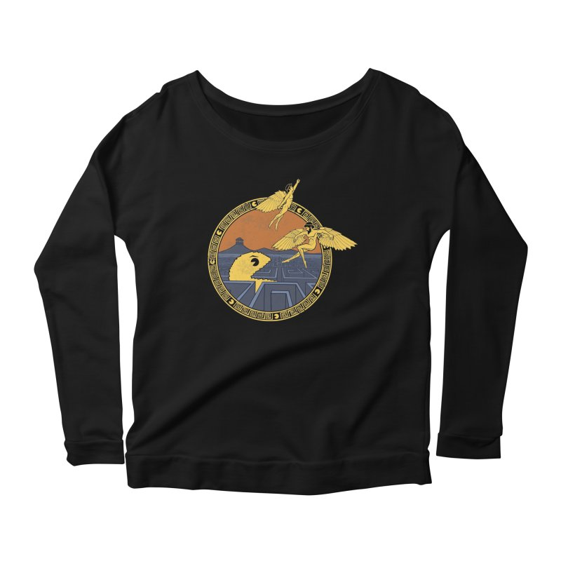 The Labyrinth Women's Longsleeve Scoopneck  by Jordy The Gnome's Artist Shop
