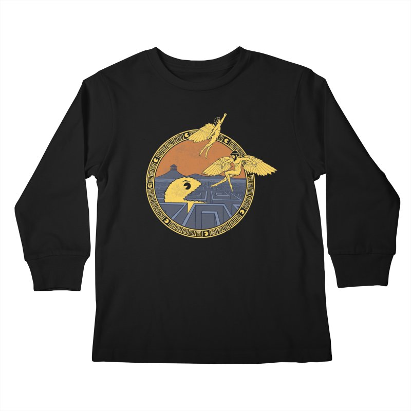The Labyrinth Kids Longsleeve T-Shirt by Jordy The Gnome's Artist Shop