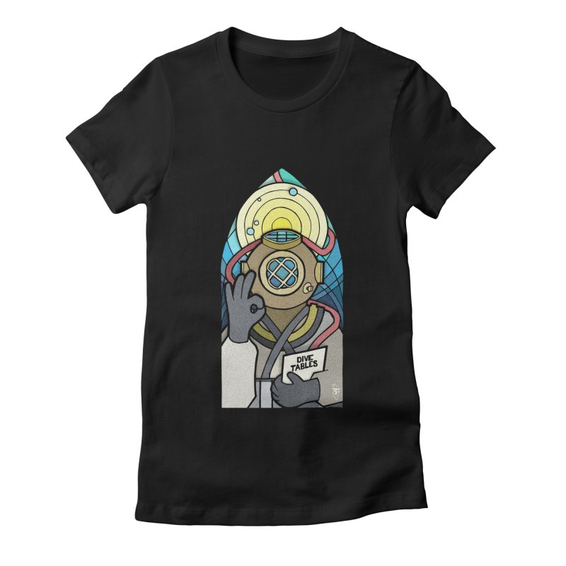 Holy Diver Women's Fitted T-Shirt by Jordy The Gnome's Artist Shop