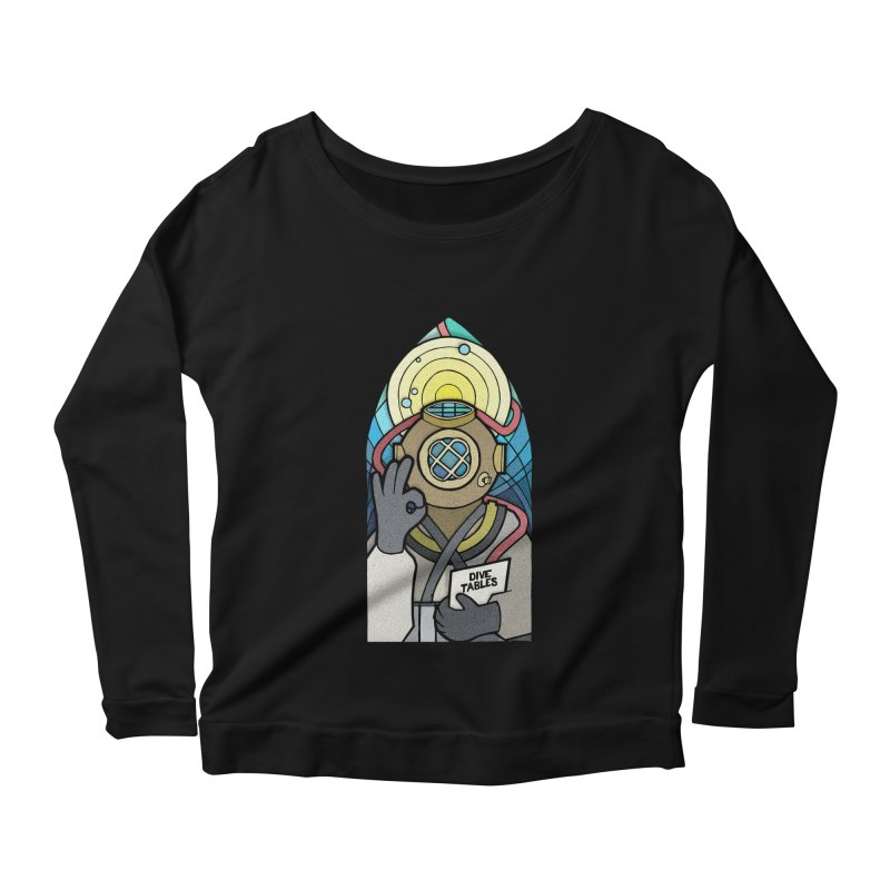 Holy Diver Women's Longsleeve Scoopneck  by Jordy The Gnome's Artist Shop
