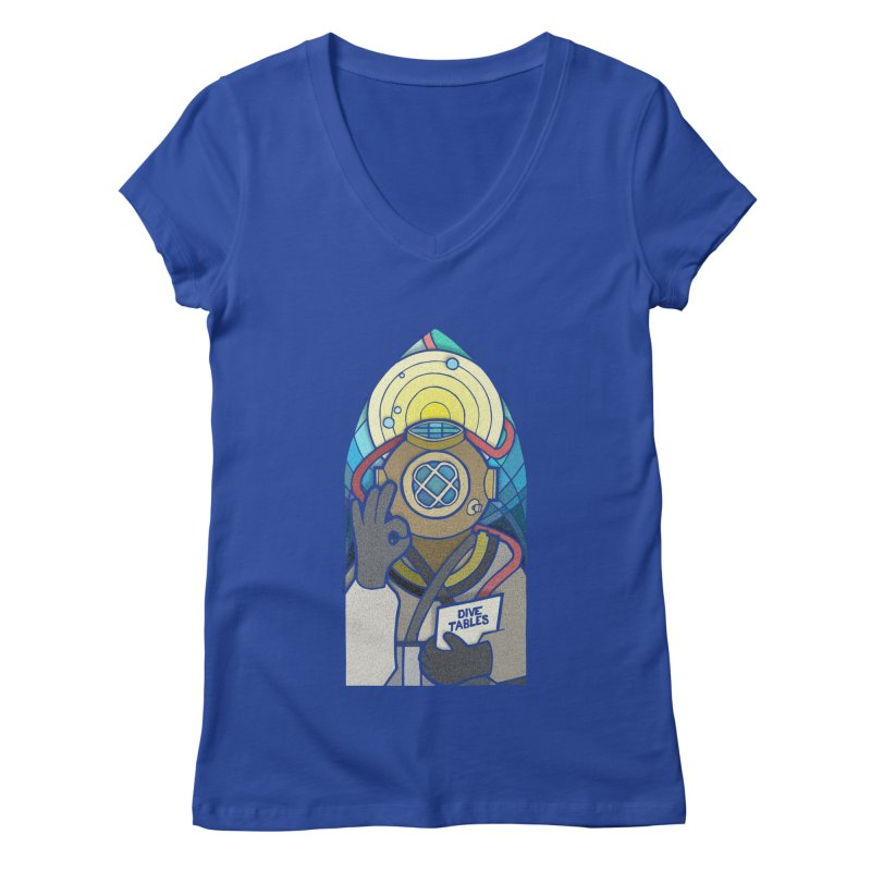 Holy Diver Women's V-Neck by Jordy The Gnome's Artist Shop
