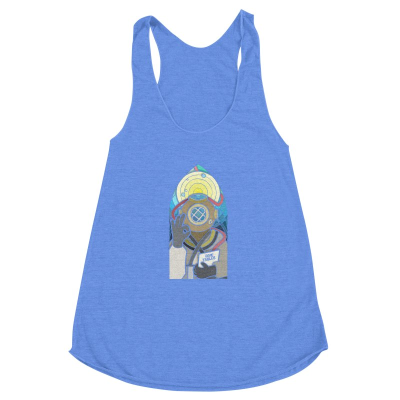 Holy Diver Women's Racerback Triblend Tank by Jordy The Gnome's Artist Shop