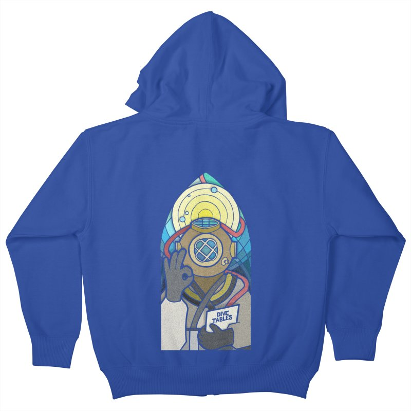 Holy Diver Kids Zip-Up Hoody by Jordy The Gnome's Artist Shop