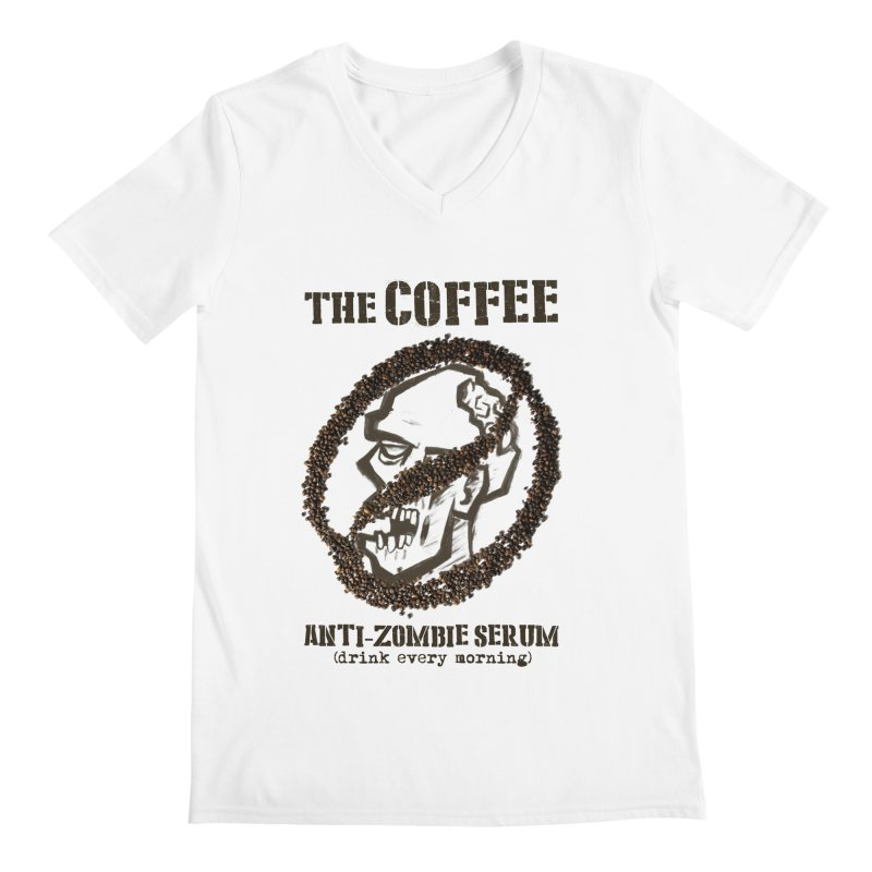 The Coffee Men's V-Neck by Jordy The Gnome's Artist Shop