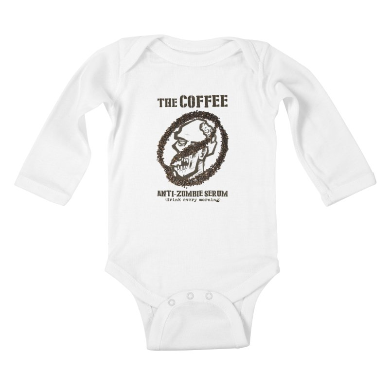The Coffee Kids Baby Longsleeve Bodysuit by Jordy The Gnome's Artist Shop