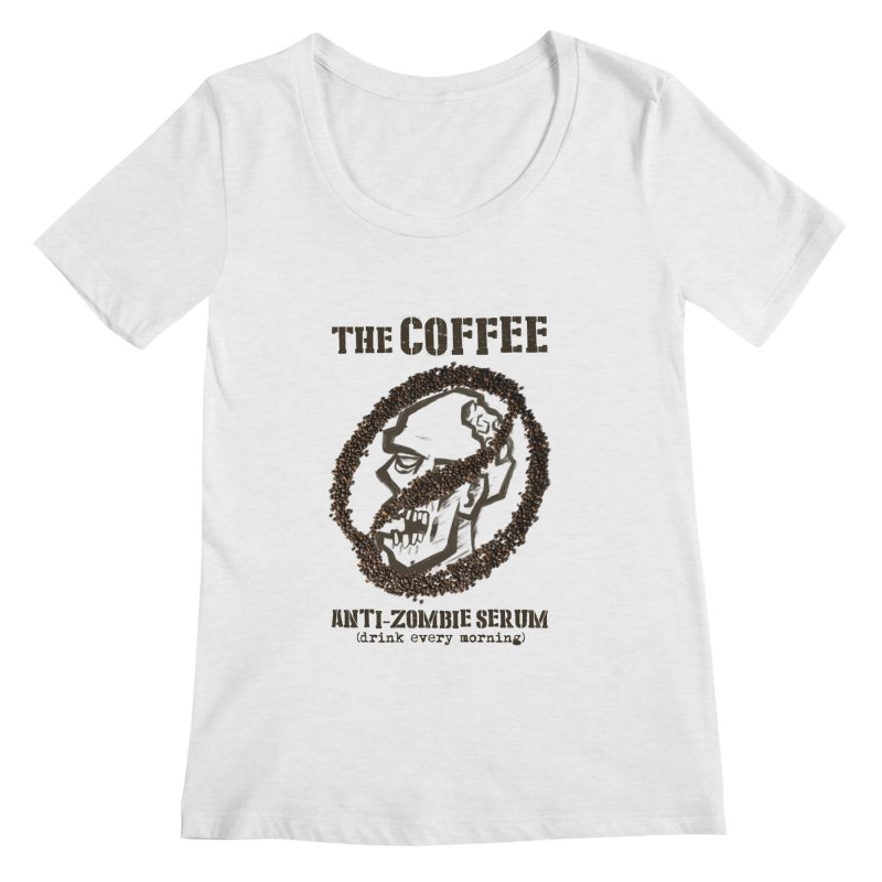 The Coffee Women's Scoopneck by Jordy The Gnome's Artist Shop