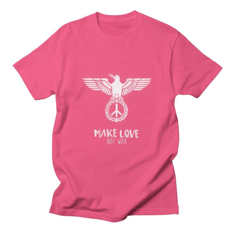 Make LOVE not war Men's T-Shirt by Jordy The Gnome's Artist Shop
