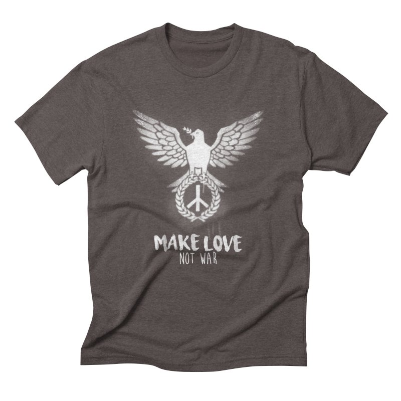 Make LOVE not war Men's Triblend T-Shirt by Jordy The Gnome's Artist Shop