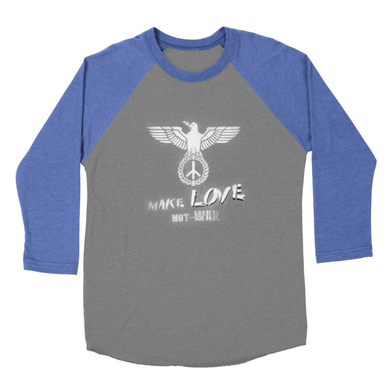 Make LOVE, not W̶A̶R̶ Men's Baseball Triblend T-Shirt by Jordy The Gnome's Artist Shop