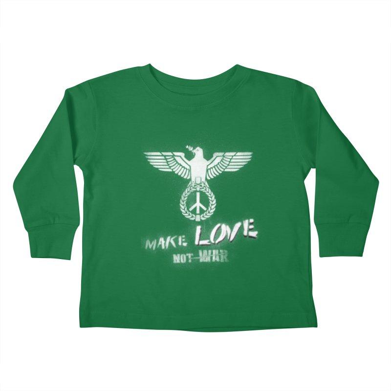Make LOVE, not W̶A̶R̶ Kids Toddler Longsleeve T-Shirt by Jordy The Gnome's Artist Shop
