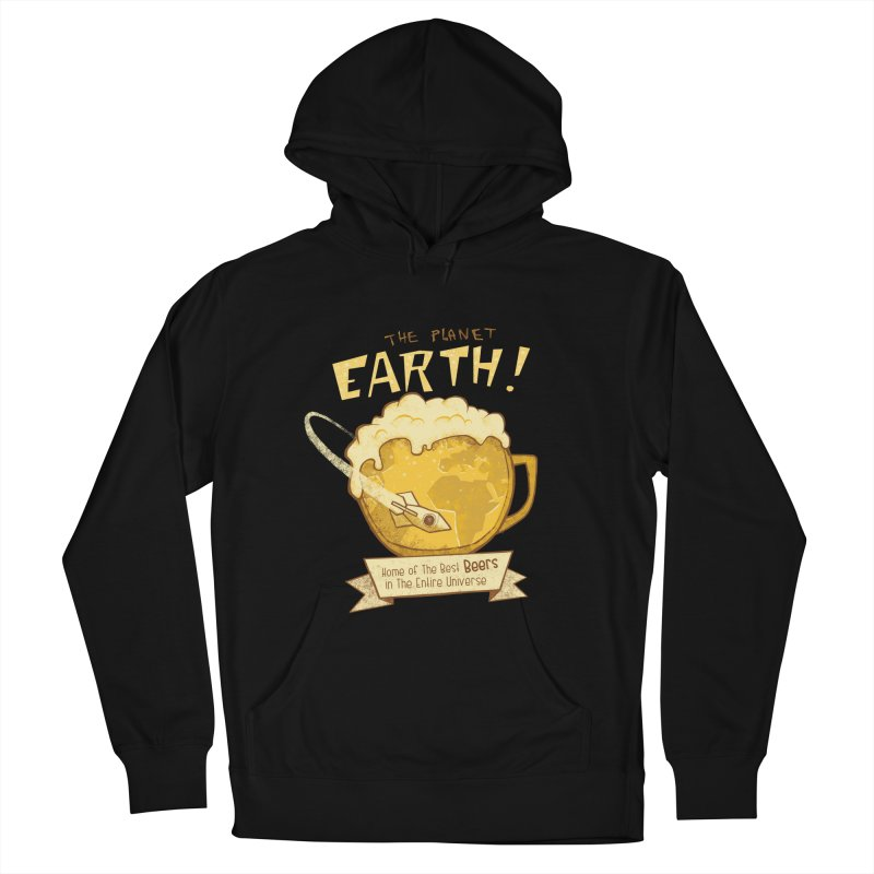 Space Beer Men's Pullover Hoody by Jordy The Gnome's Artist Shop